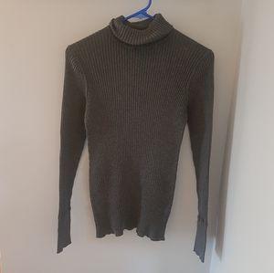 🌺 GAP Gray Long Turtleneck Sweater (M)